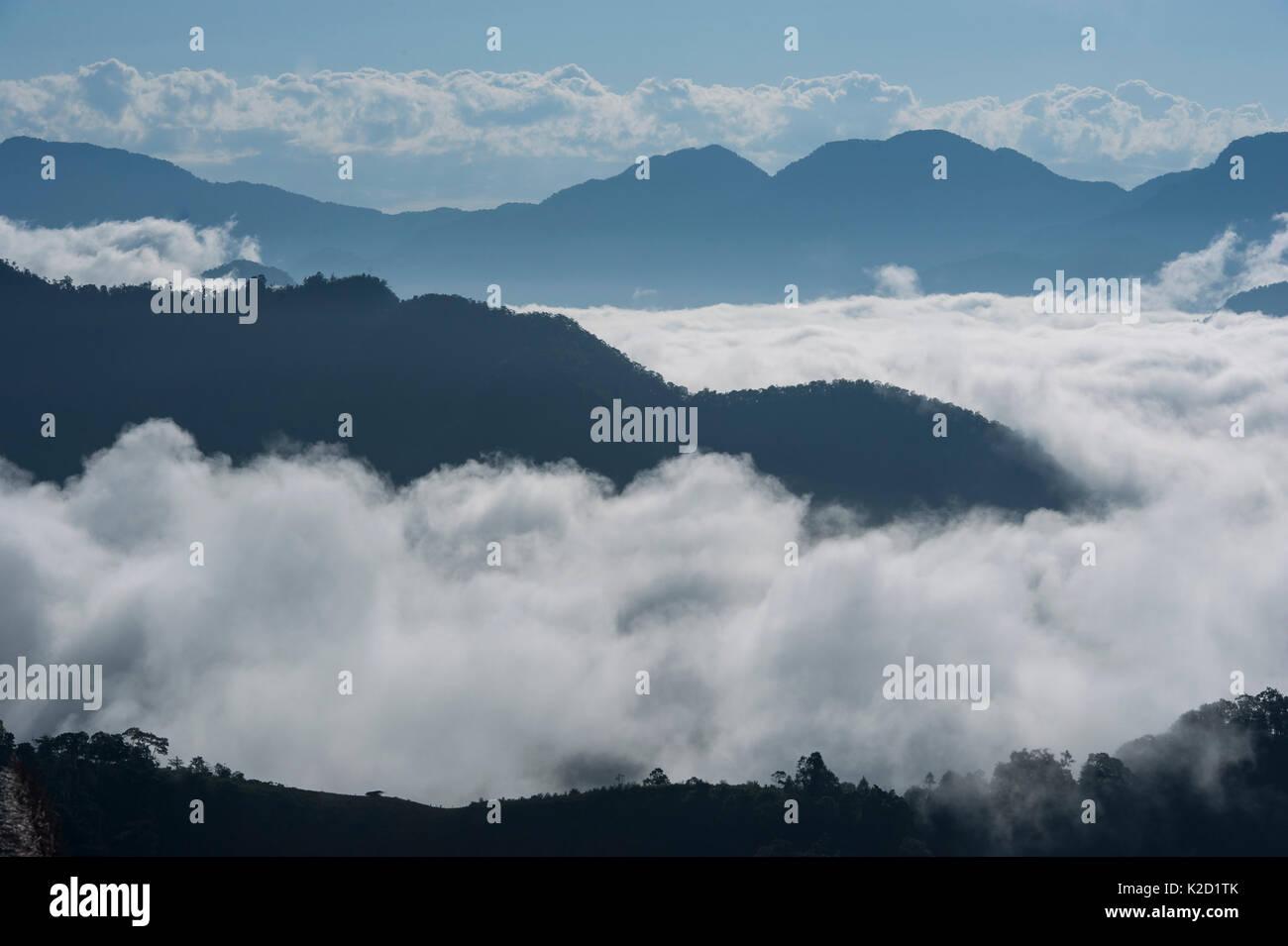 Himalayan foothills scenic, Arunachal Pradesh, North East India, November 2014. - Stock Image