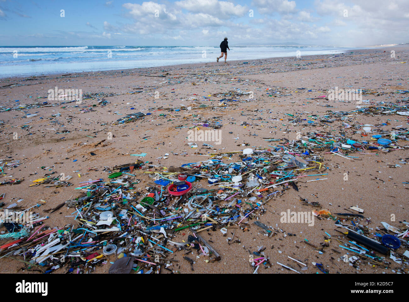 Beach Littered With Rubbish Stock Photos Beach Littered