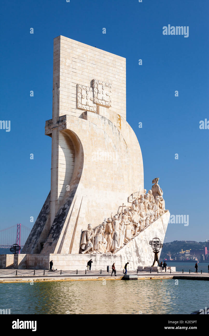 Padrao dos Descobrimentos in Lisbon - Stock Image