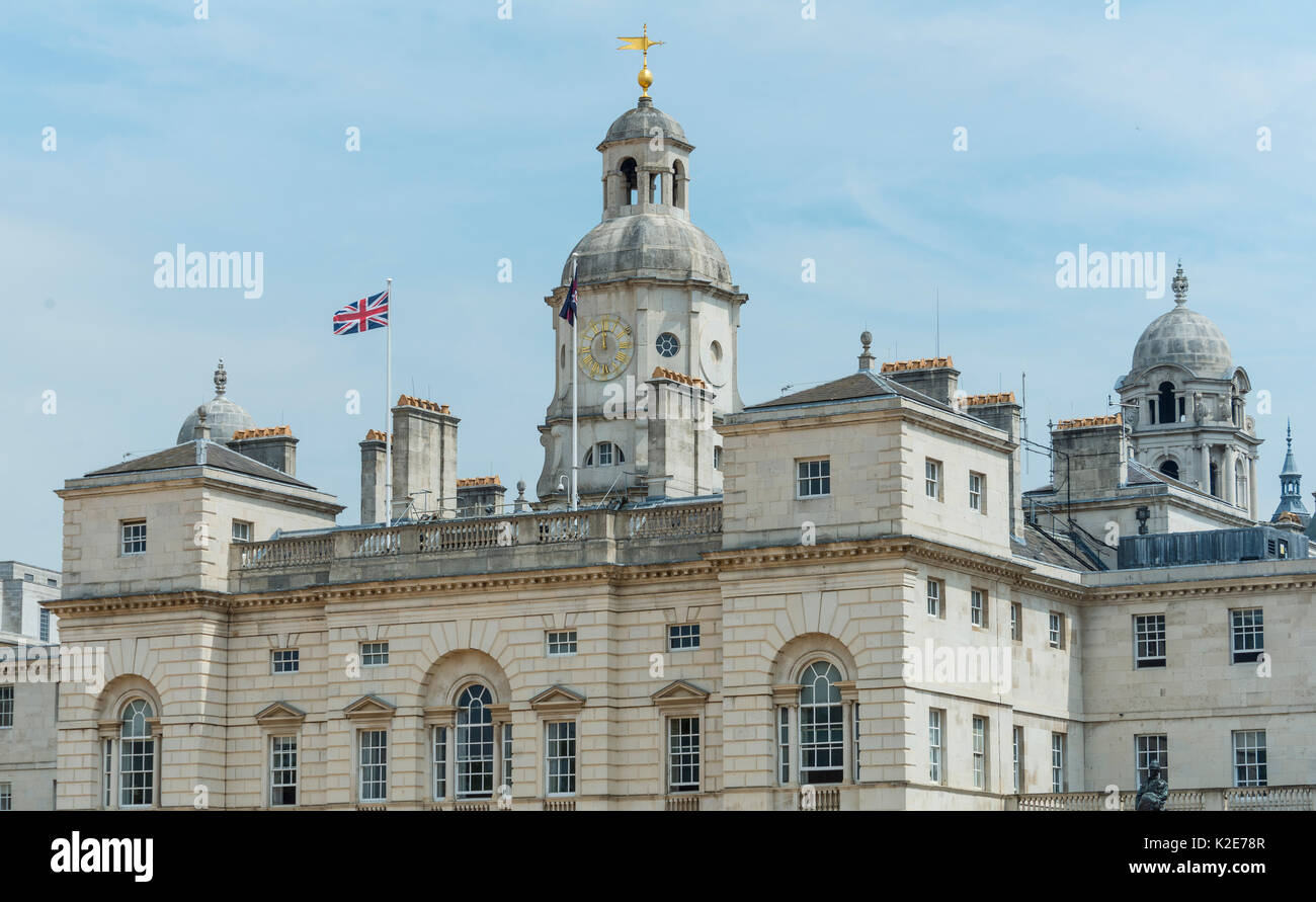 Government buildings with British flag, Whitehall, Westminster, London, England, United Kingdom - Stock Image