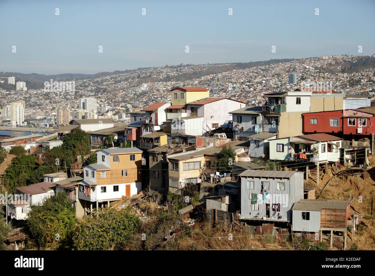 Valparaiso town, Chile, April 2016. - Stock Image