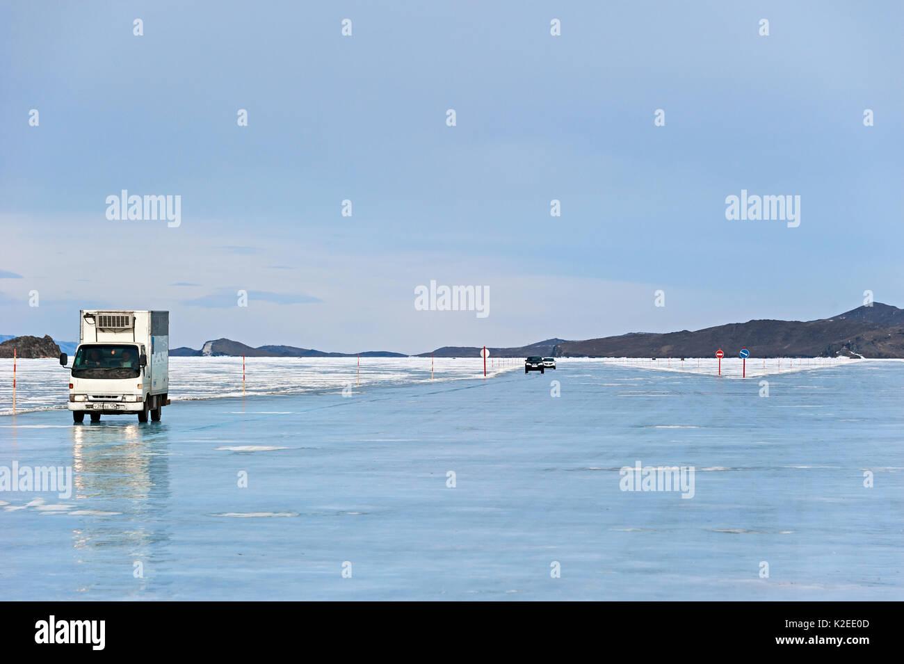 Baikal Ice Car Stock Photos & Baikal Ice Car Stock Images - Alamy