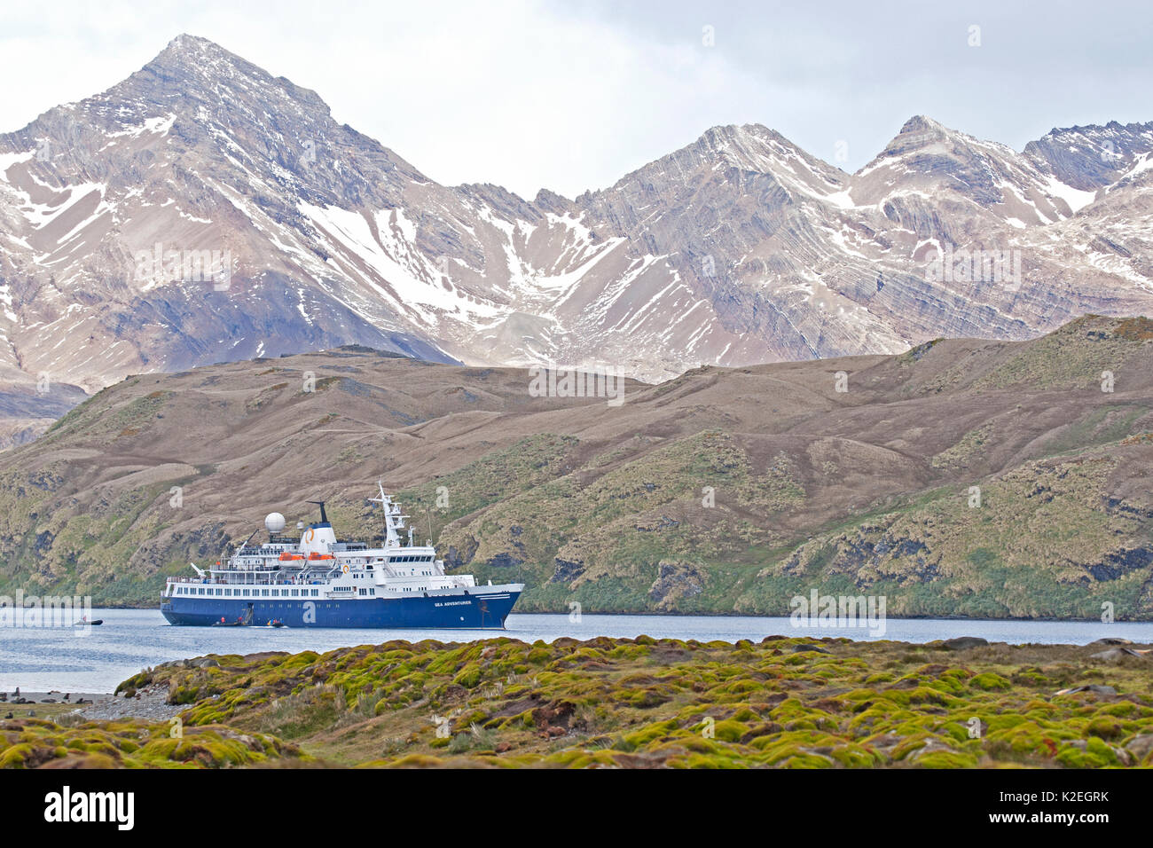 Quark Expeditions Sea Adventurer, Stromness Whaling Station, South Georgia. January 2015. - Stock Image