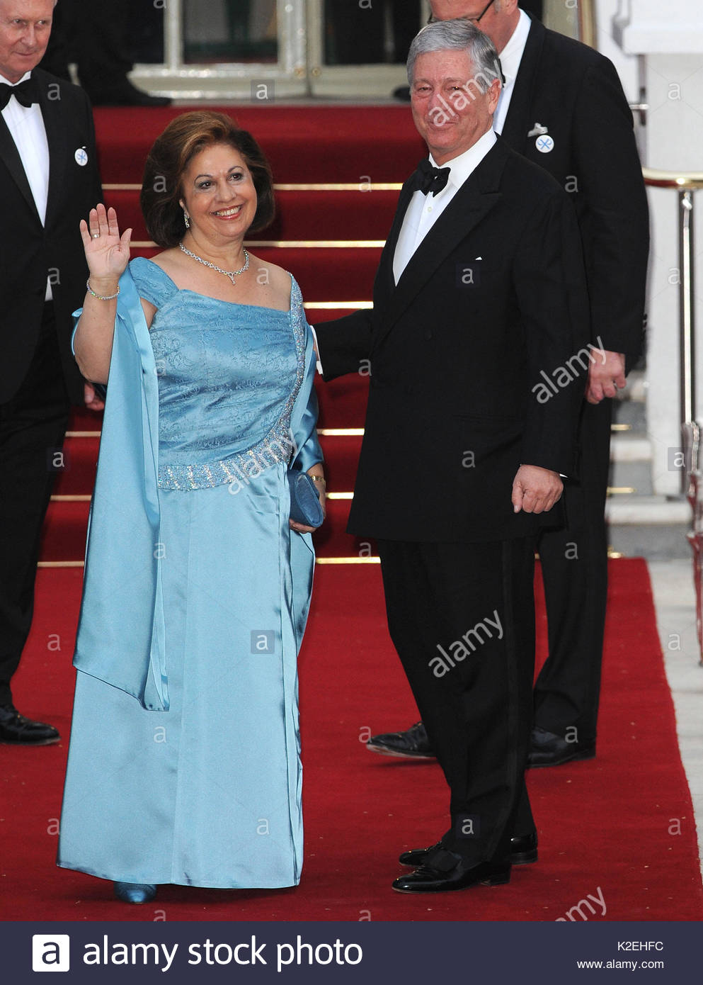 Princess Katherine of Serbia. Arrivals to the Royal Wedding Pre ...