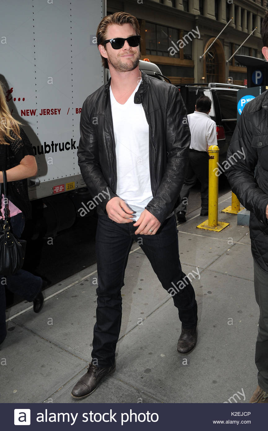 bd3a92a32aee0 Chris Hemsworth visited the Calvin Klein flagship store on Madison Avenue  and the Calvin Klein headquarters on 39th Street in Manhattan.