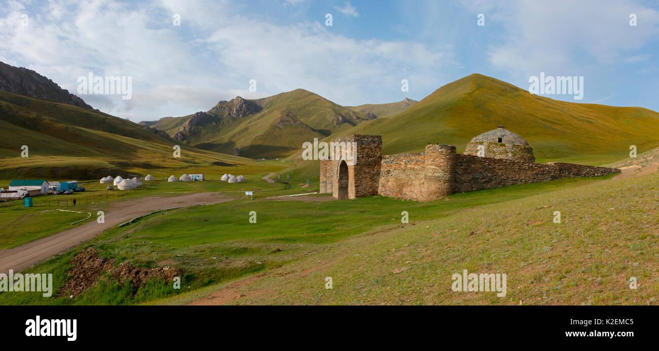 Tash Rabat. Kyrgyzstan. - Stock Image