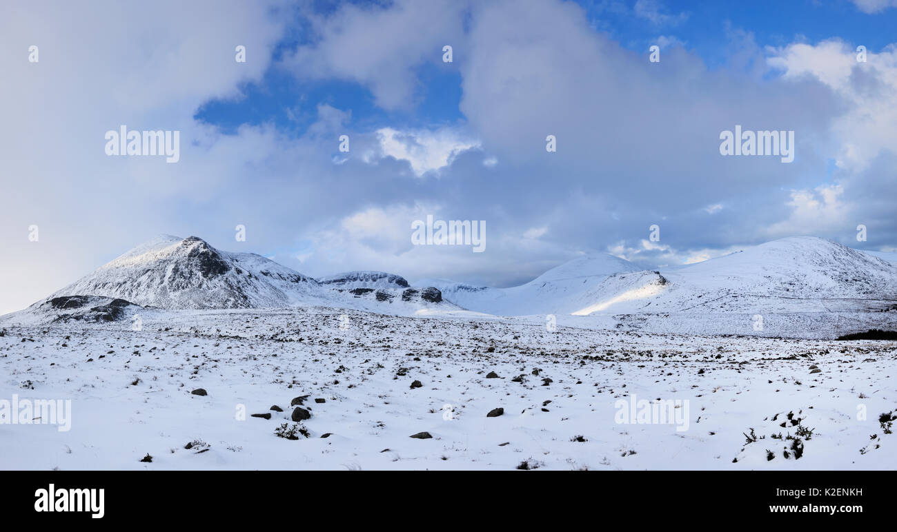 Mourne Mountains in winter, County Down, Northern Ireland, UK. March 2013. - Stock Image
