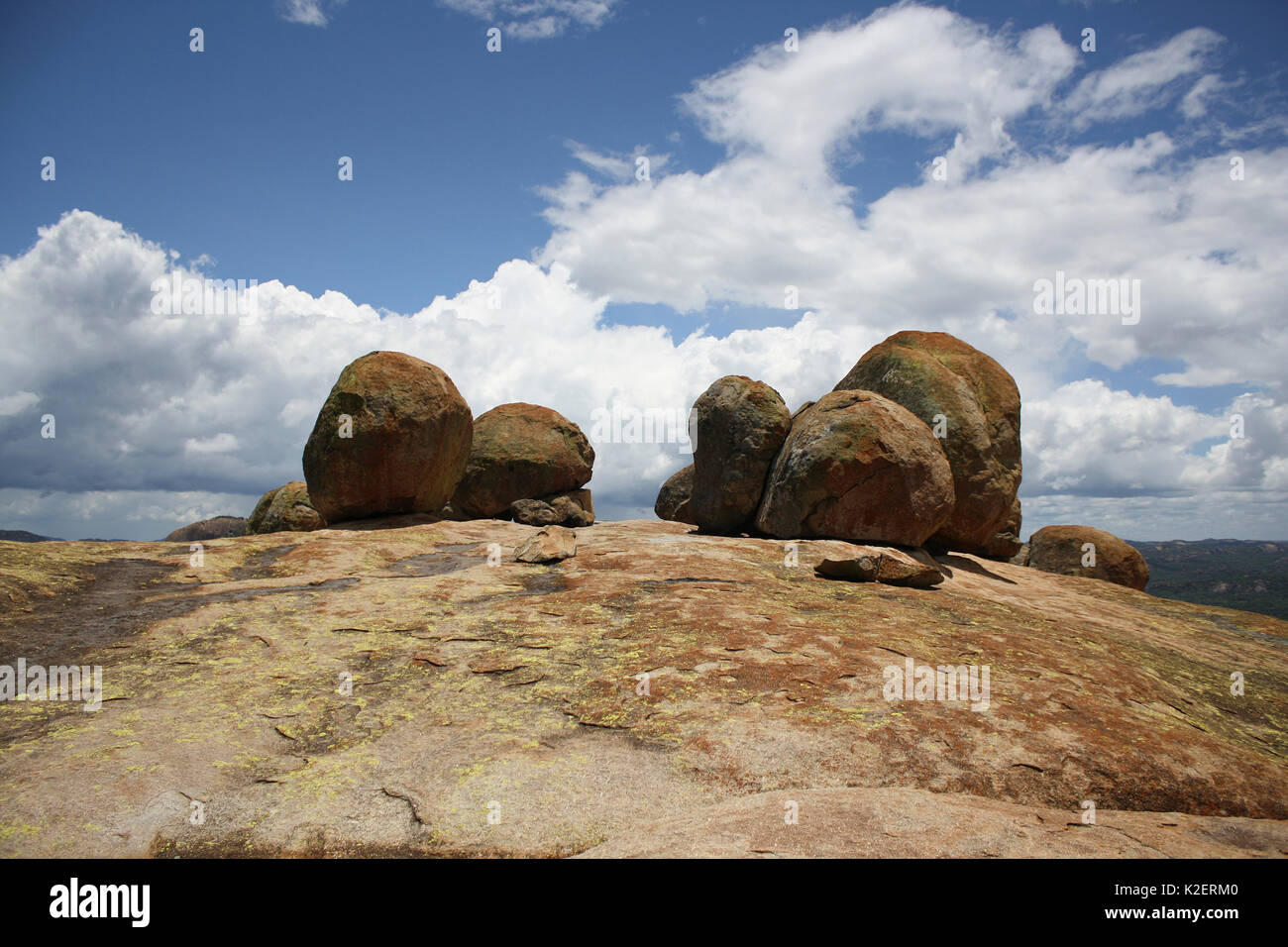Worlds view near the graves of Cecil Rhodes, and Leander Starr Jameson, Matobo Hills, Zimbabwe. January 2011. - Stock Image