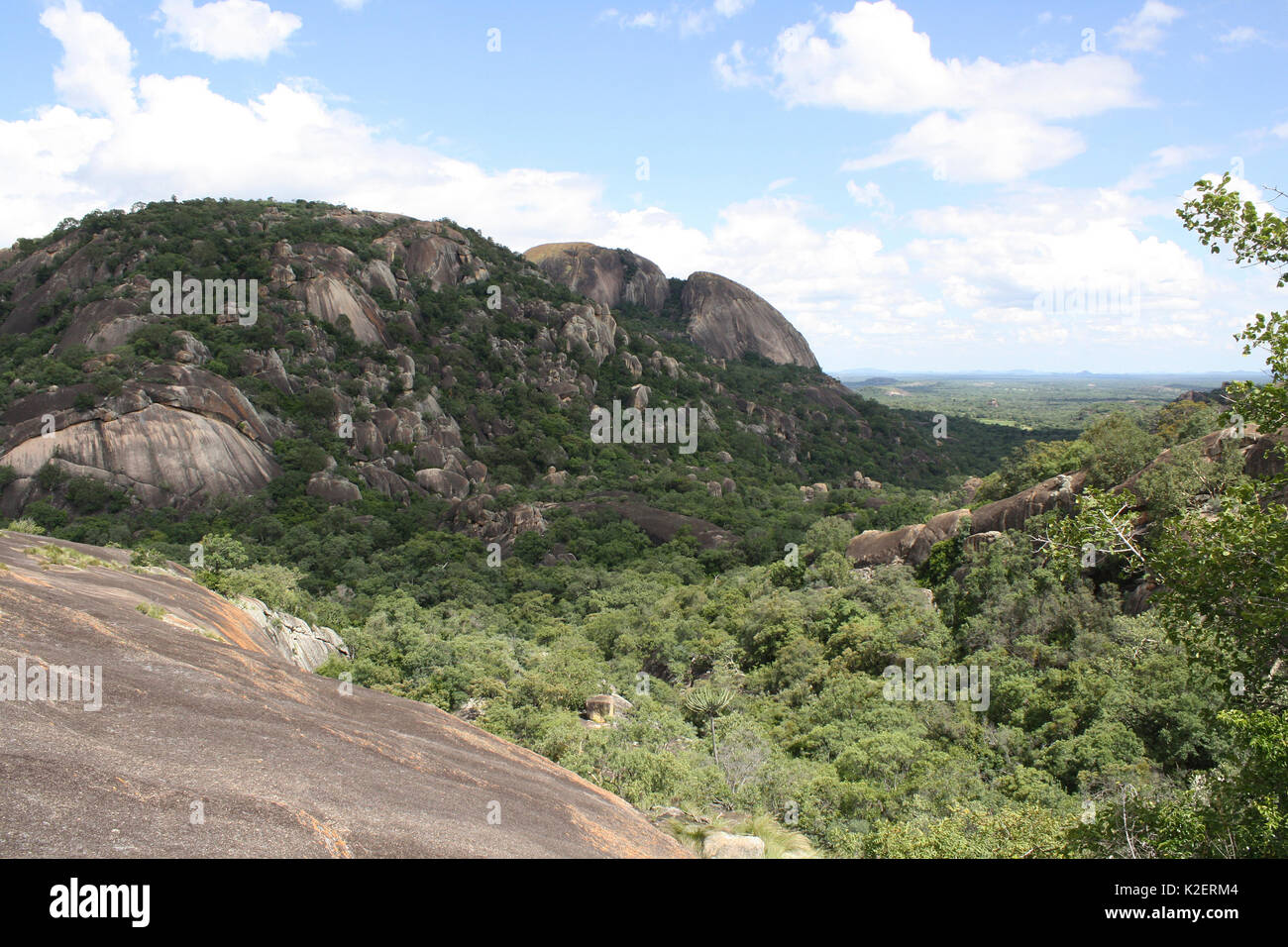 Worlds View, near the graves of Cecil Rhodes, and Leander Starr Jameson, Matobo Hills, Zimbabwe. January 2011. - Stock Image
