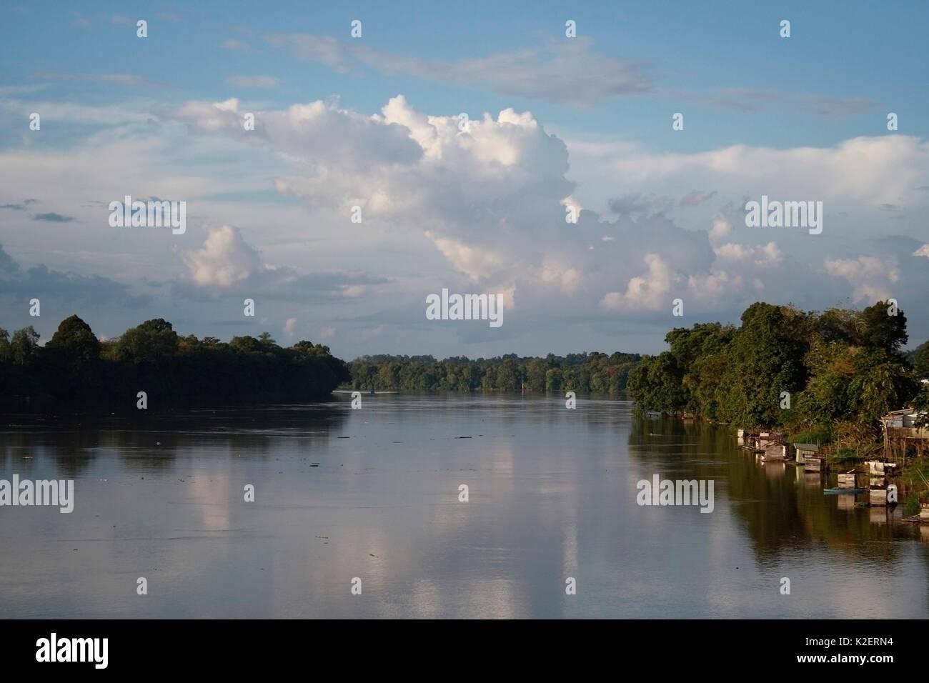 Kapuas river side, Singkawang, West Kalimantan, Indonesia Borneo. June 2010. - Stock Image