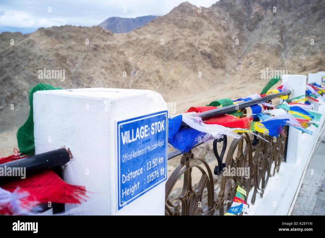Shanti stupa in Leh Ladakh, Jammu and Kashmir, India Stock Photo
