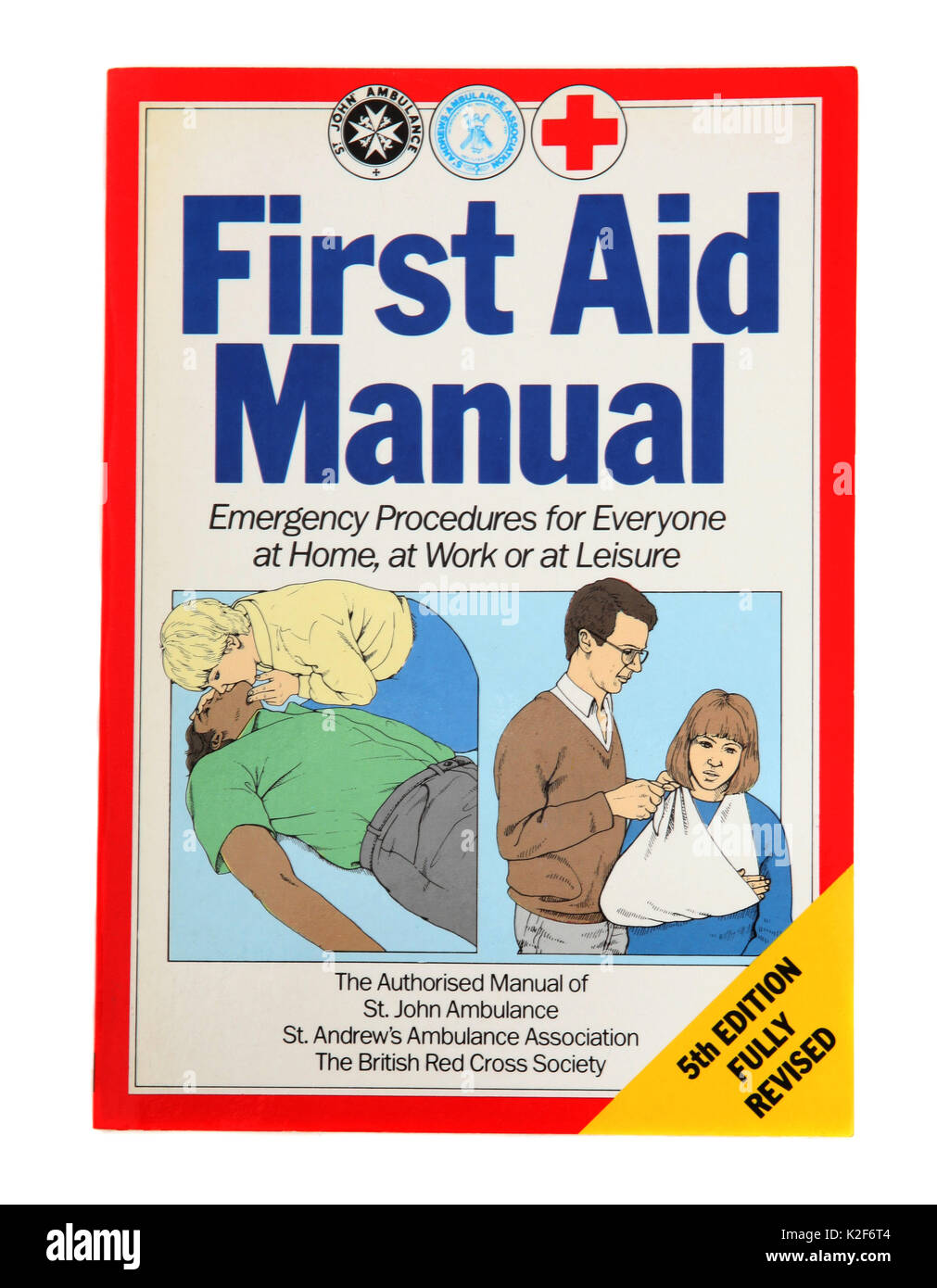 The book - First Aid Manual - Stock Image
