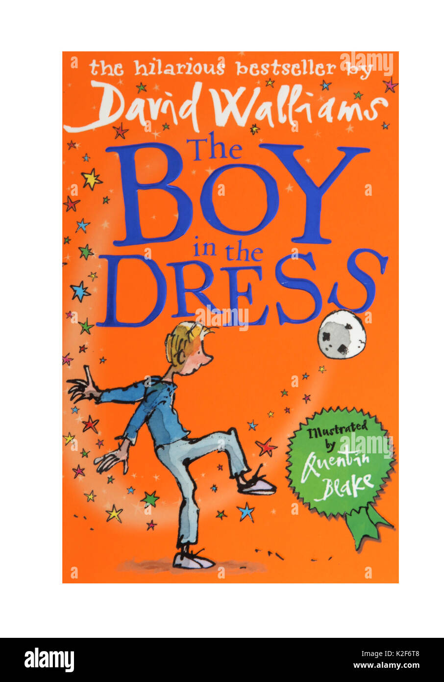 The book, The Boy in the Dress by David Walliams - Stock Image