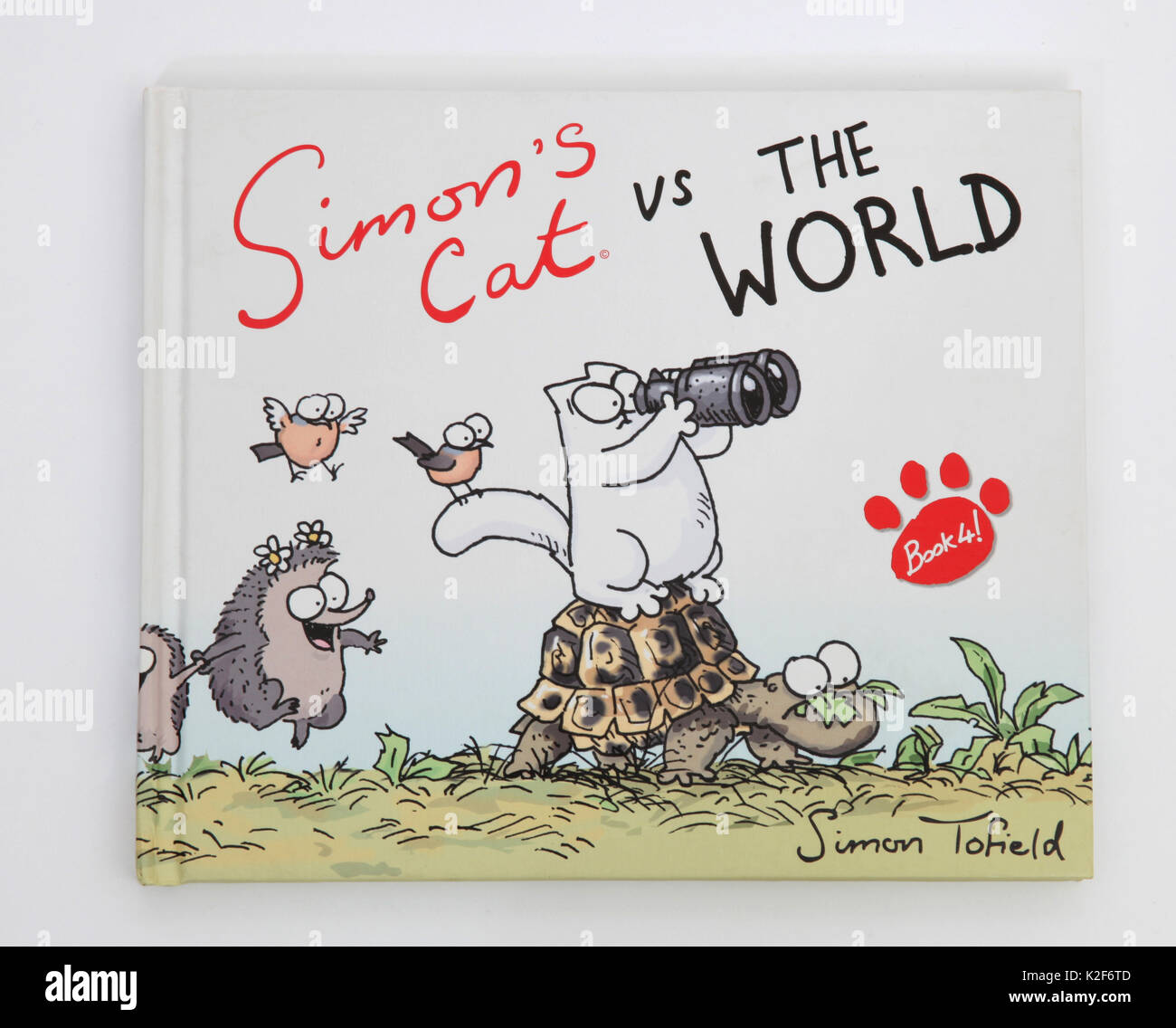 The illustrated book, Simon's Cat vs The World by Simon Tofield. Stock Photo