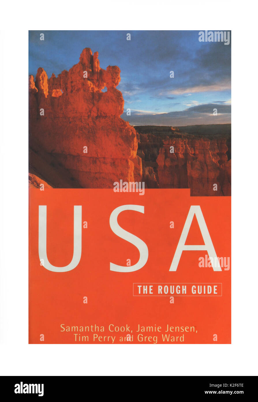The travel guide, USA, The Rough Guide. - Stock Image