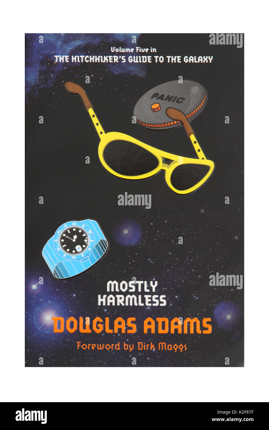 The book, Mostly Harmless, by Douglas Adams. - Stock Image