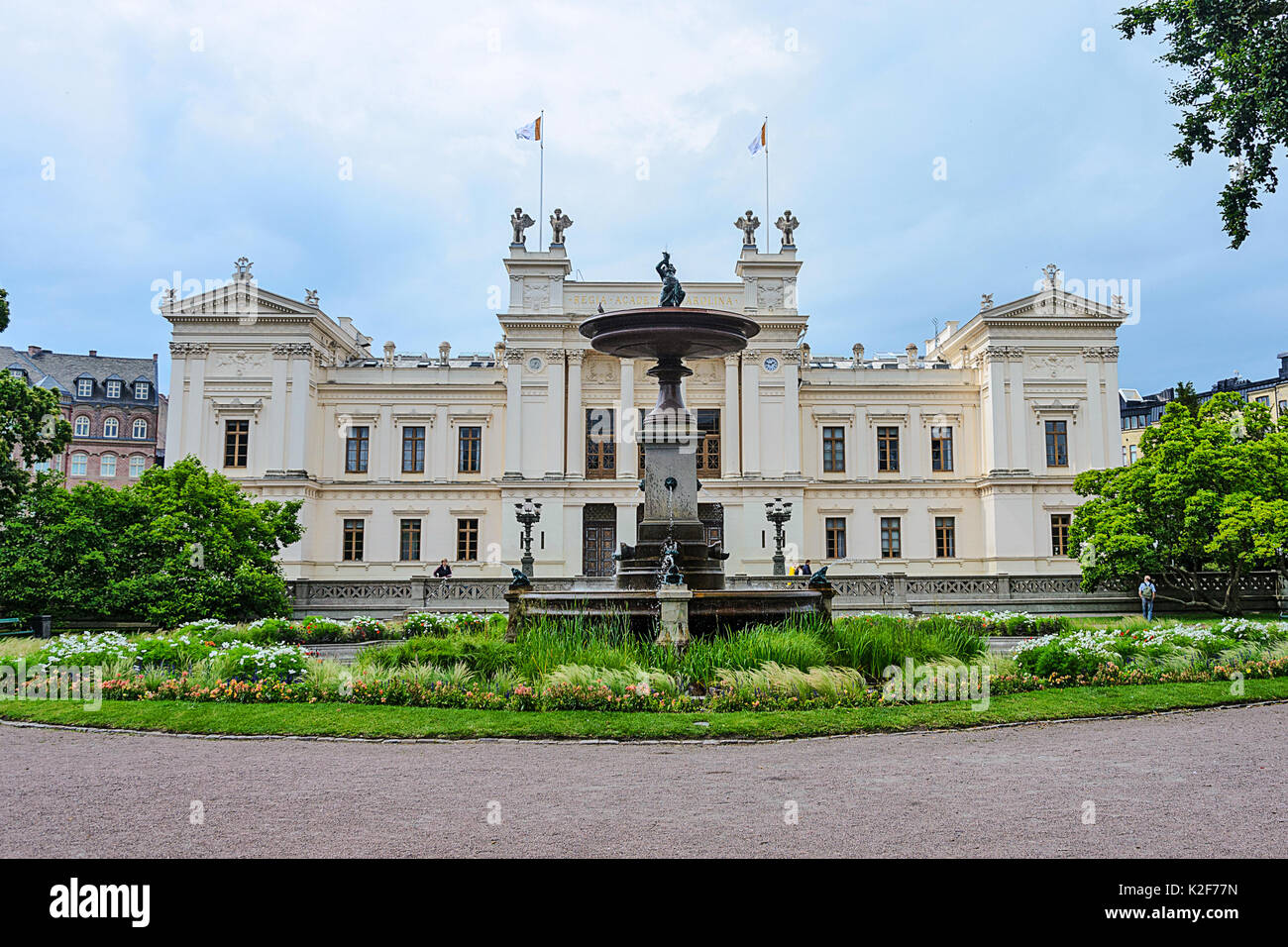 Lund, Sweden, July 23, 2017: Lund University is one of Europe's oldest, largest and most prestigious universities and is located in the city of Lund i - Stock Image