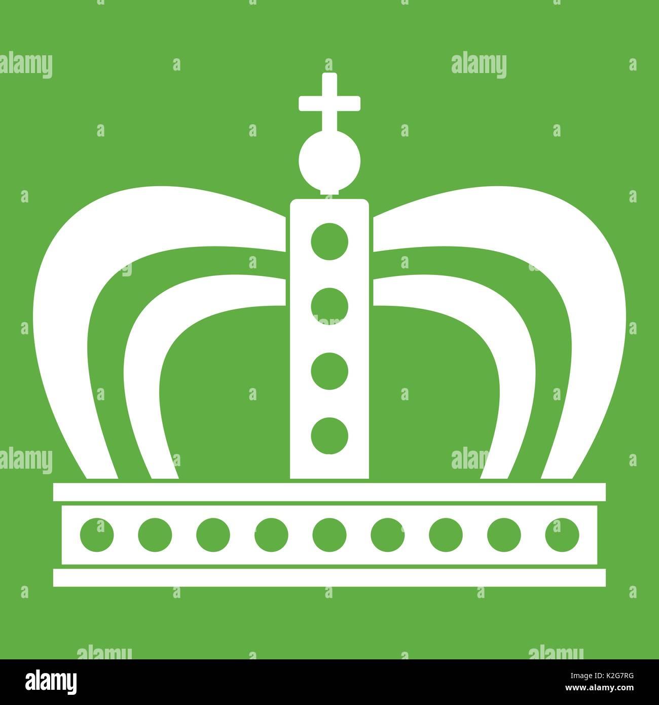 Monarchy crown icon green - Stock Vector