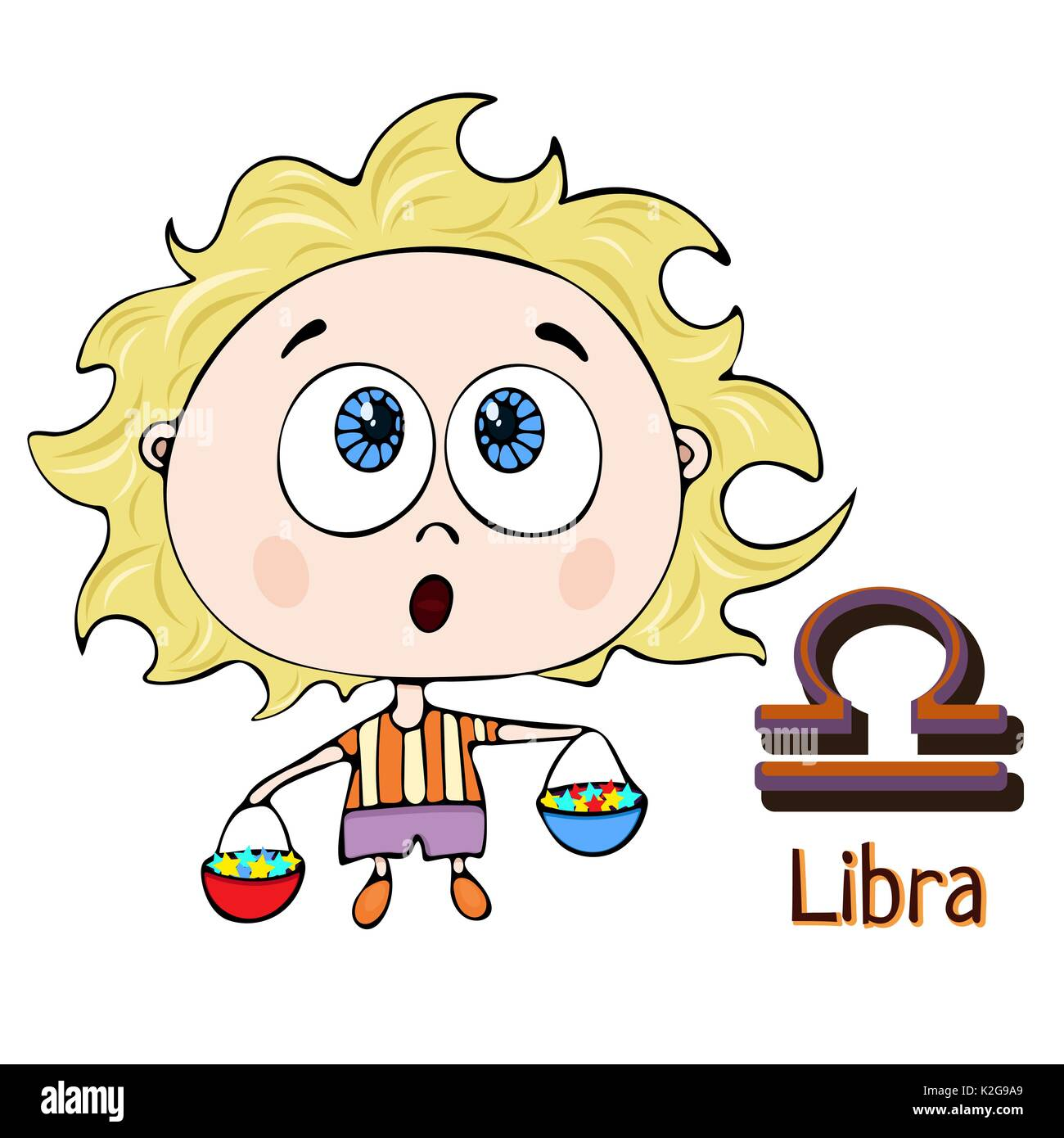 Libra Painted Symbol Zodiac Sign Stock Photos Libra Painted Symbol