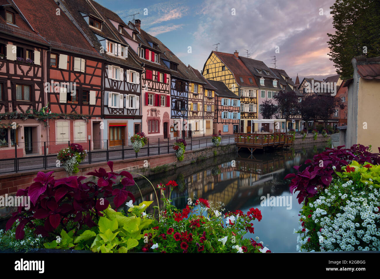 City of Colmar. Cityscape image of old town Colmar, France during sunset. - Stock Image