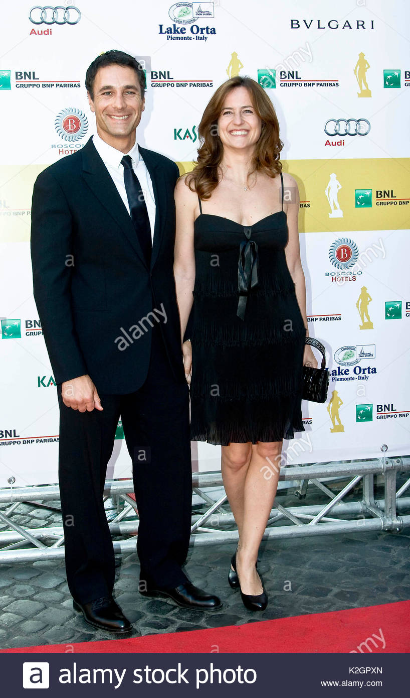 raoul bova and hsi wife chiara giordano. red carpet arrivals to the