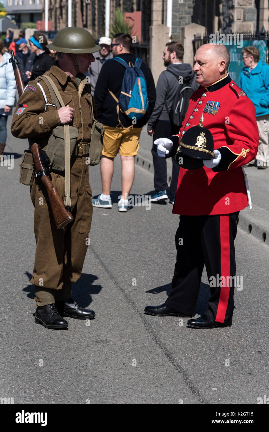 Liberation Day annual celebrations in St. Helier in the Channel Islands, Britain.   Liberation Day is held annually on 9th May, marking the end of Ger - Stock Image