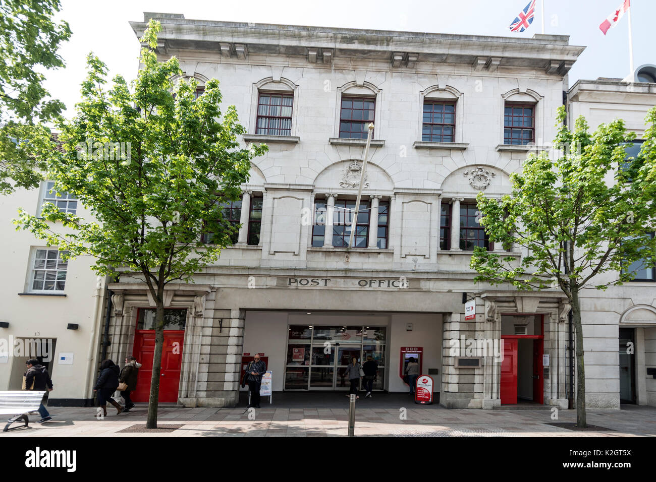 The main post office in St. Helier in Jersey in the Channel Islands , Britain - Stock Image
