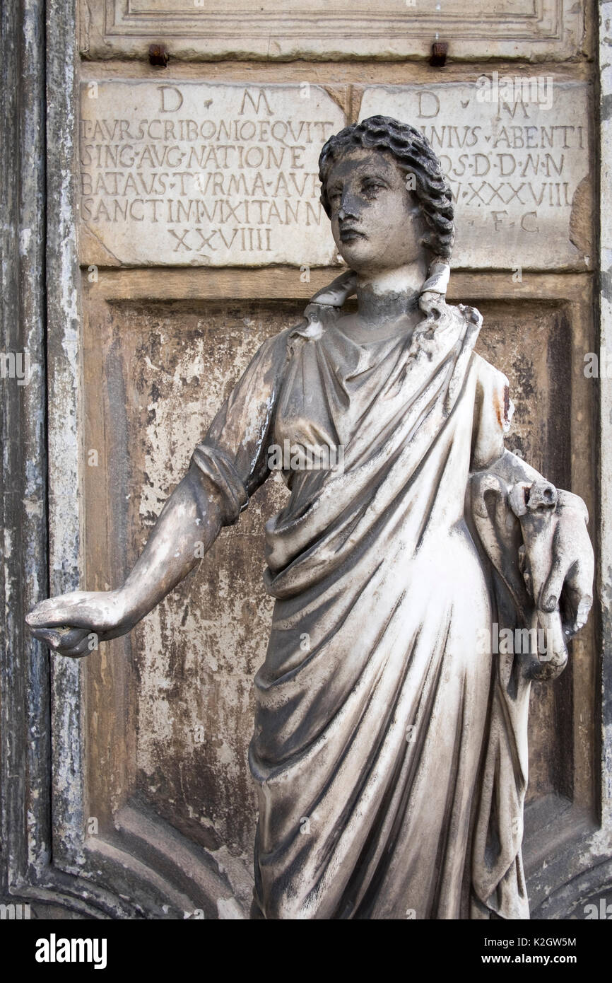 Statues in the garden at Palazzo Corsini, in Florence, Italy Stock Photo