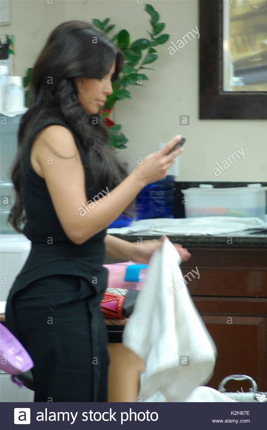 Kim Kardashian. Kim Kardashian visits a nail salon in Beverly Hills ...
