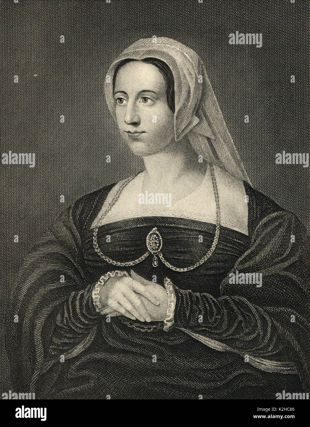 Catherine Parr last wife of Henry VIII - Stock Image