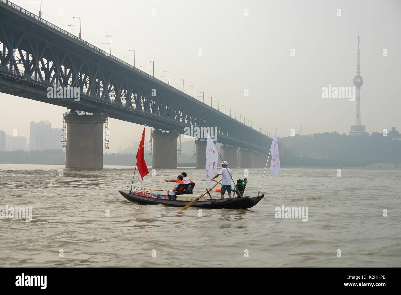 yangtse river swiming club - Stock Image