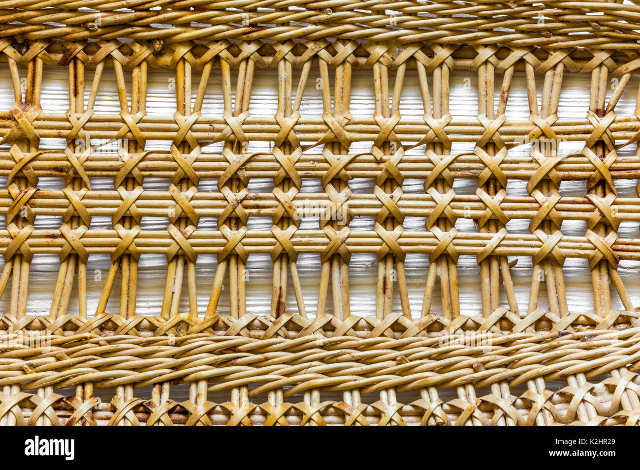 Pattern nature for background of handicraft weave texture wicker surface. Stock Photo