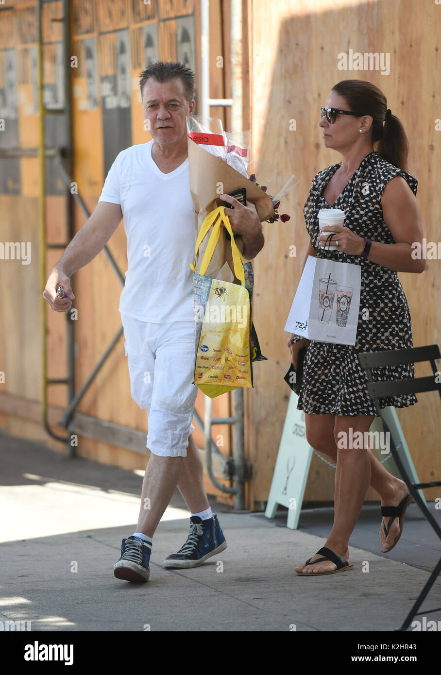 Eddie Van Halen Goes To The Farmers Market With His Wife Janie Stock Photo Alamy