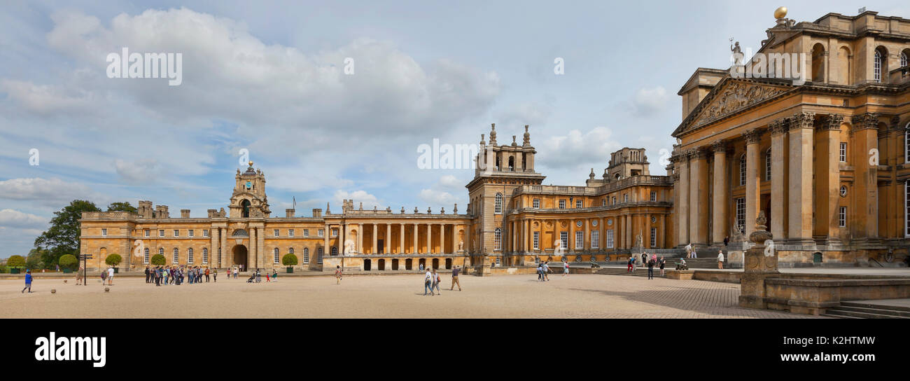 Blenheim Palce, Woodstock. UK, view from the Western wing looking North East towards the front entrance and East wing - Stock Image