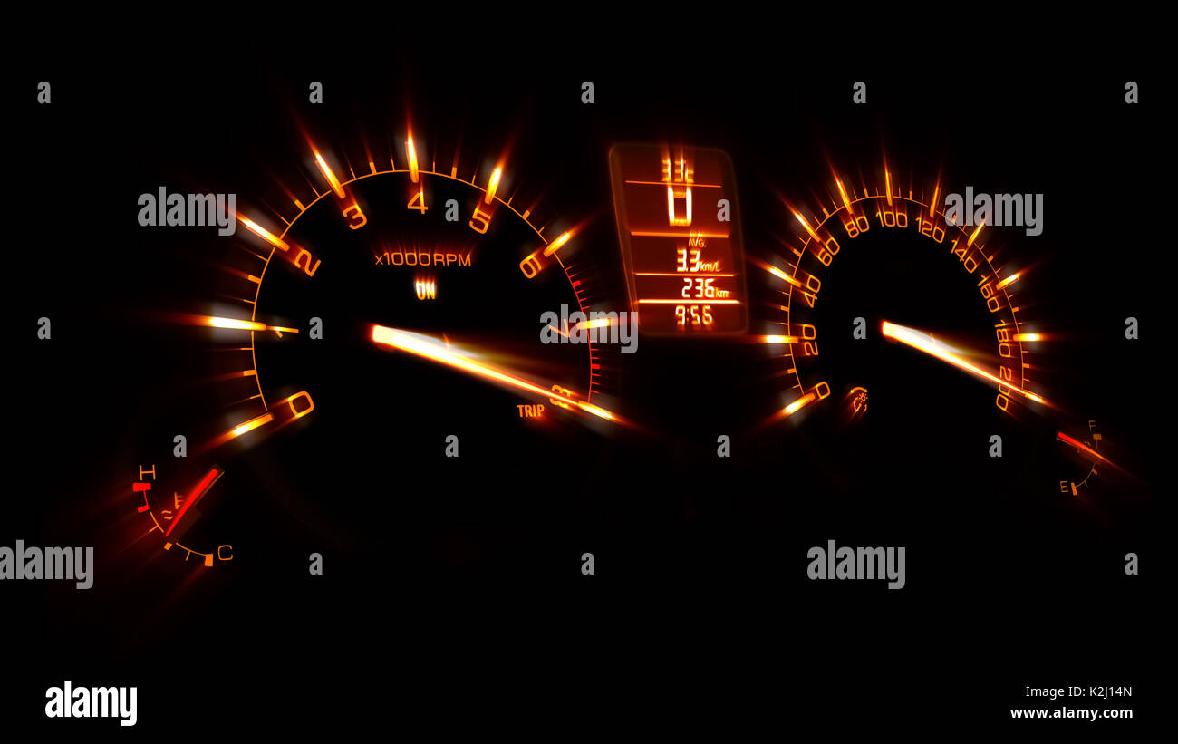Speedometer Of A Car At Maximum Speed Stock Photo 156518677 Alamy