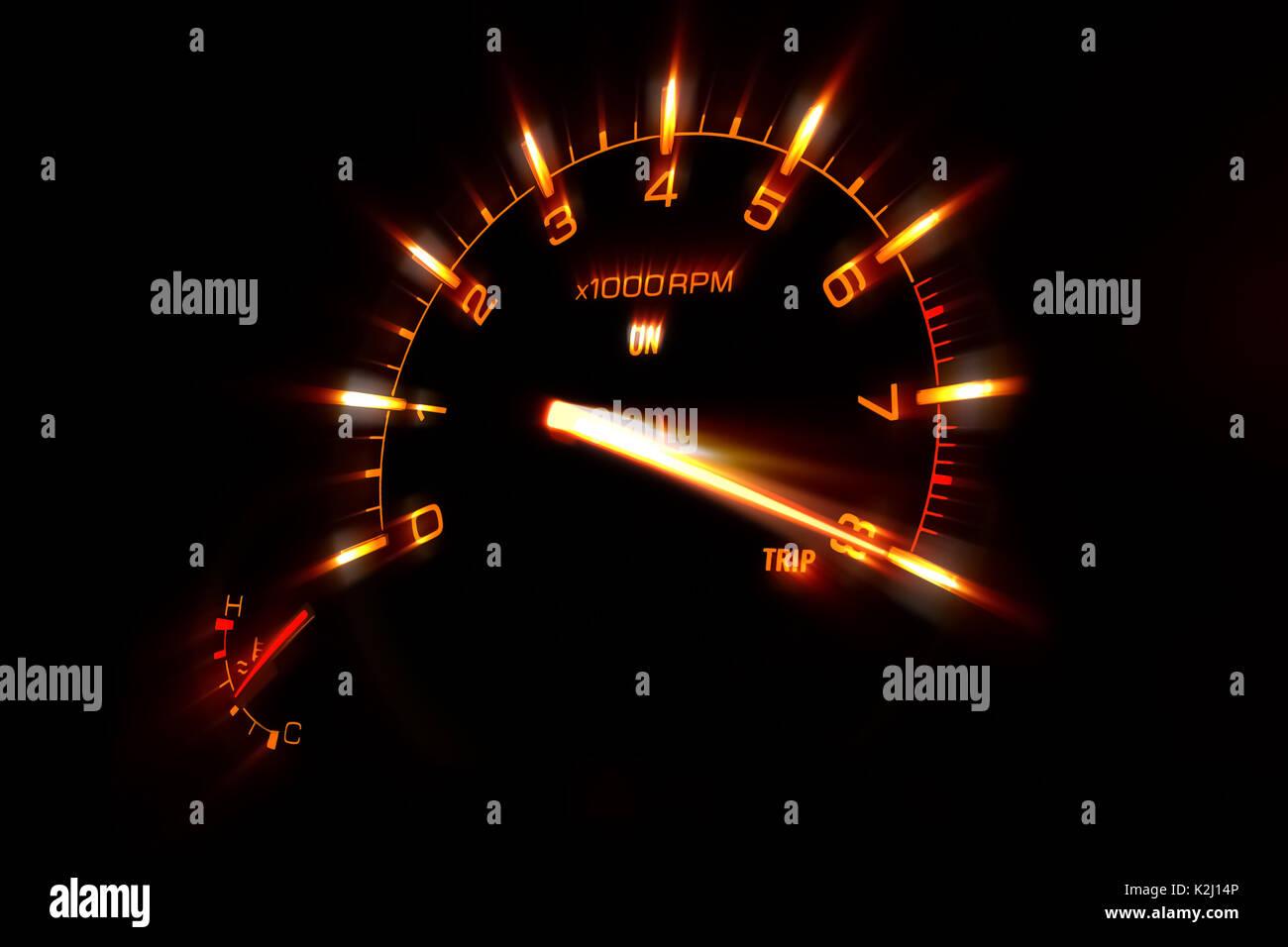 Speedometer Of A Car At Maximum Speed Stock Photo 156518678 Alamy