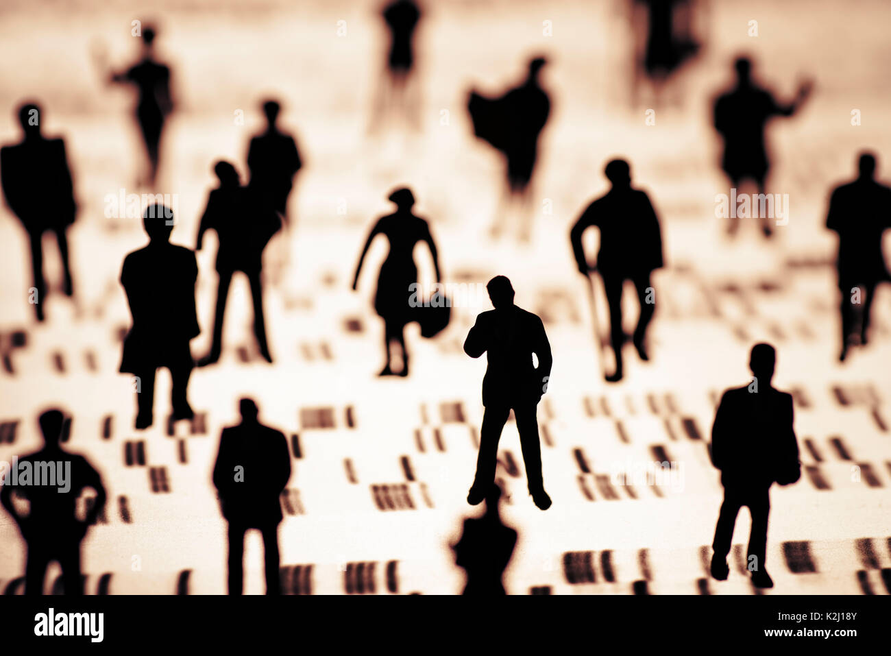 A group of people on a DNA profile - Stock Image