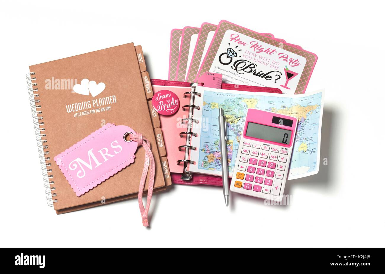 WEDDING AND HEN PARTY PLANNING - Stock Image