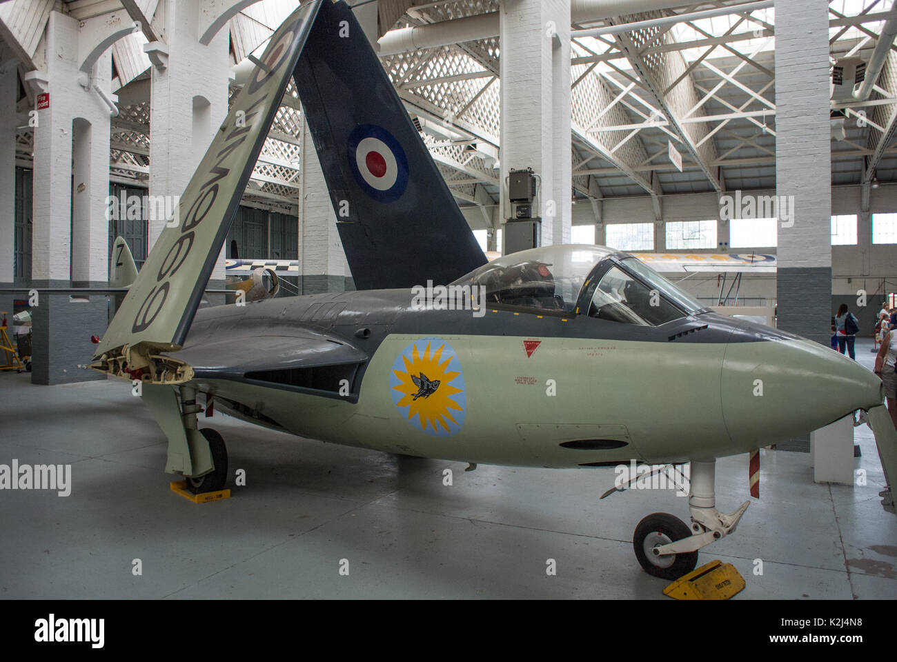 Hawker Sea Hawk FB5 Fast jet Royal Navy Great Britain - Stock Image