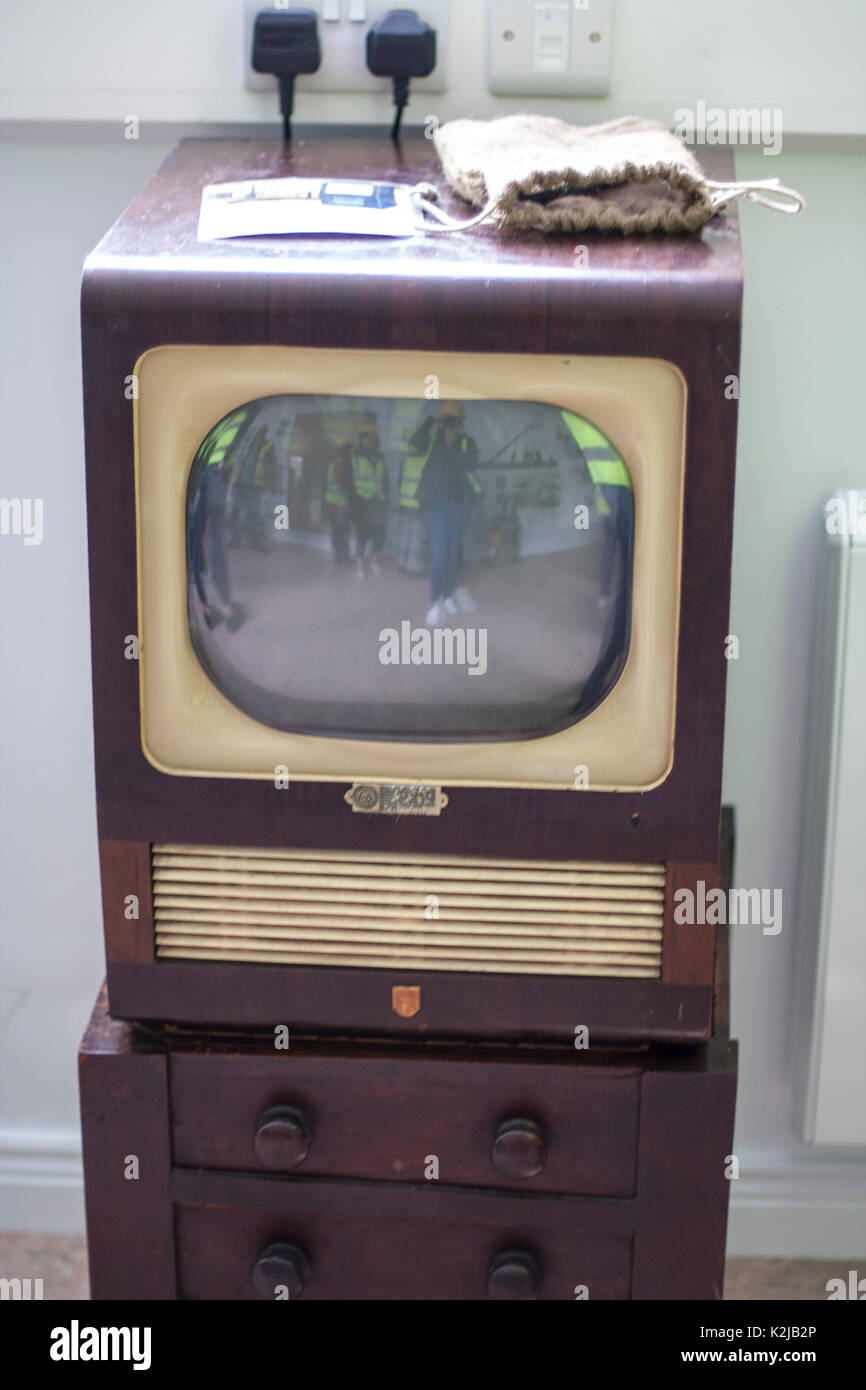 Old Fashioned Television 1960s 1950s Concept Vintage Black And