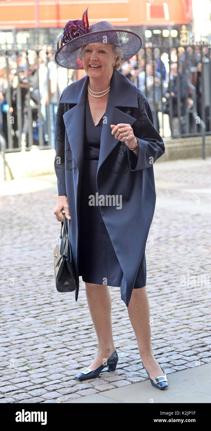 Photo Must Be Credited ©Alpha Press 078237 07/06/2017 Penelope Keith at A Service of Thanksgiving for the Life and Work of Ronnie Corbett CBE held at Westminster Abbey in London. - Stock Image