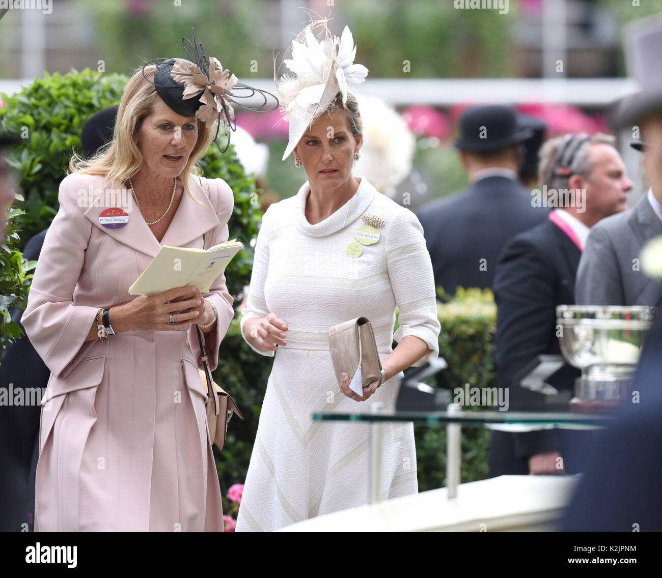 Photo Must Be Credited ©Alpha Press 079965 22/06/2017 Sophie Weatherby and Sophie Countess of Wessex at Royal Ascot Stock Photo