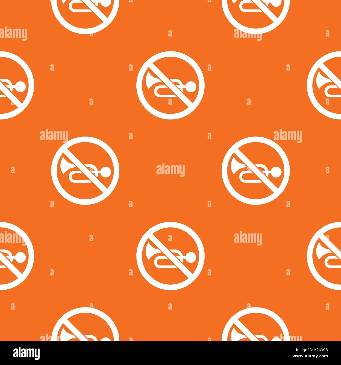 No horn traffic sign pattern seamless Stock Vector
