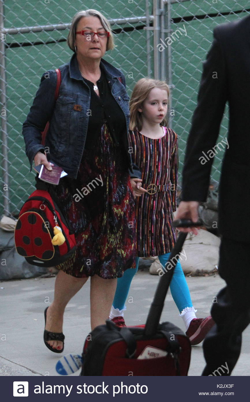 Beatrice McCartney Paul Walks Through LAX With A Guitar Was Accompanied By His Daughter
