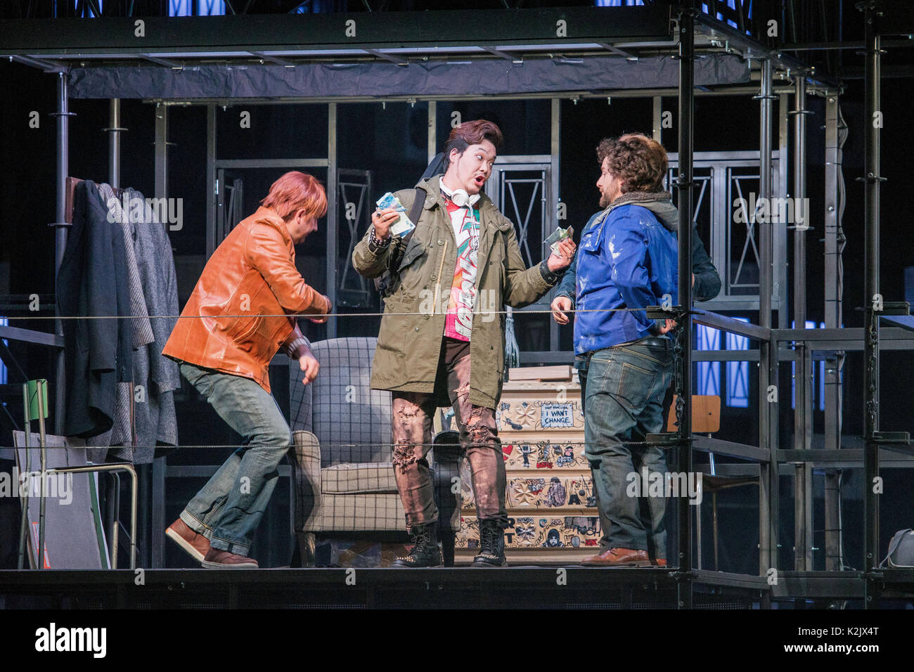 WWW.IANGEORGESONPHOTOGRAPHY.CO.UK Picture: La Boheme (opera), Festival Theatre  Opera's greatest, most heartbreaking Stock Photo