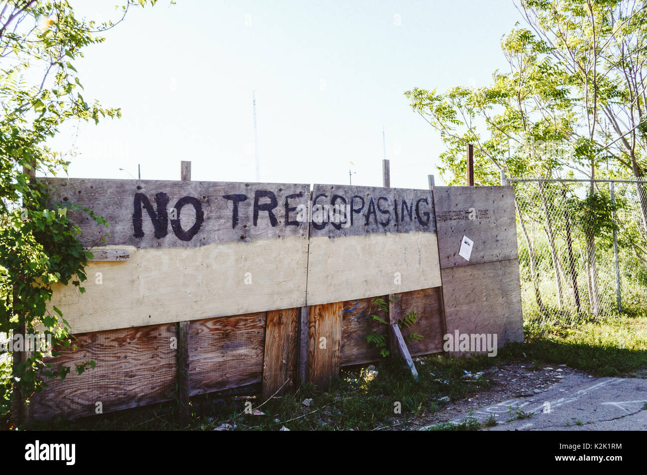 Old Private Property No Trespassing Stock Photos Amp Old