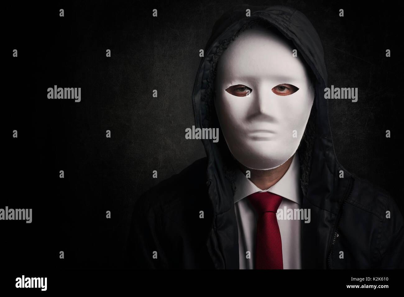 Businessman with mask Businessman with mask - Stock Image