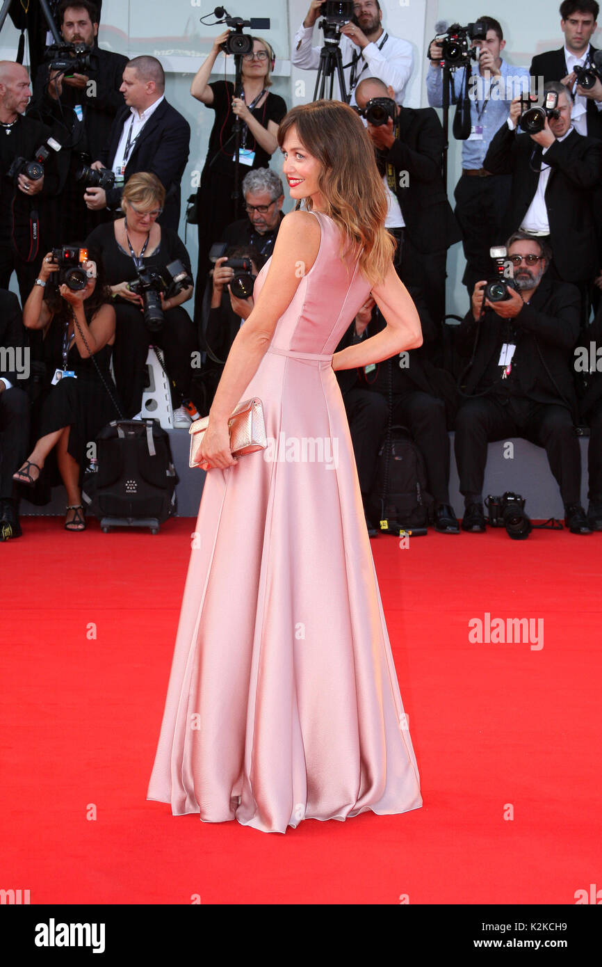 Venice, Italy. 30th Aug, 2017. VENICE, ITALY - AUGUST 30: Francesca Cavallin walks the red carpet ahead of the 'Downsizing' screening and Opening Ceremony during the 74th Venice Film Festival at Sala Grande on August 30, 2017 in Venice, Italy. Credit: Graziano Quaglia/Alamy Live News - Stock Image