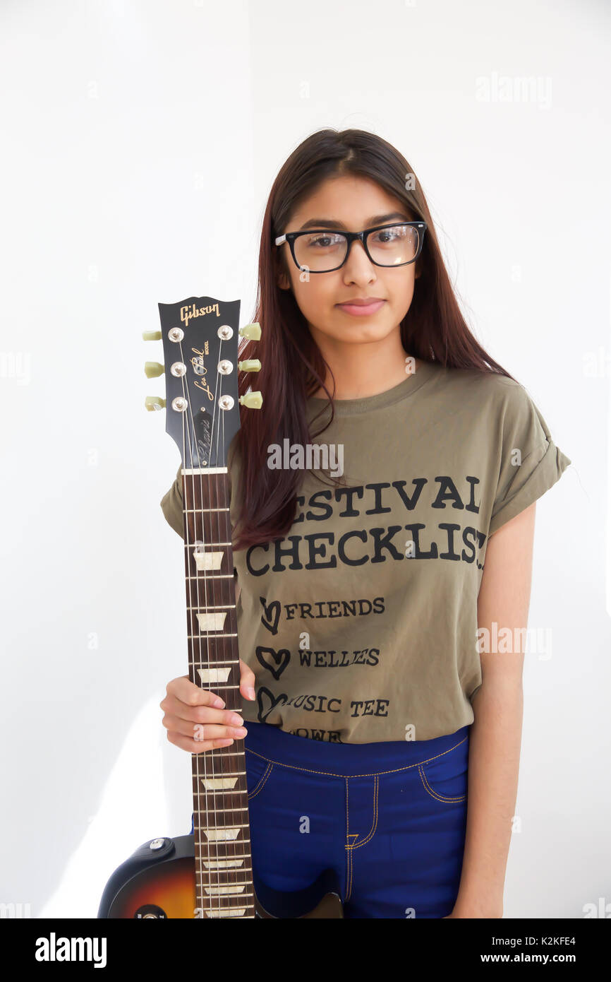 London,UK,31st August 2017,Charis Bechan,joined London's top young buskers who took part in a boot camp with music industry experts at the Umbrella Rooms music studios in the heart of the West End before going head-to-head at the Gigs Grand Final at Westfield this Sunday. Twelve competitors have made it through to the Grand Final, where they will battle it out for the title of Gigs Champion 2017 and a range of top prizes including a London Underground busking licence, studio time and busking equipment and a busking trip to Paris©Keith Larby/Alamy Live News Stock Photo