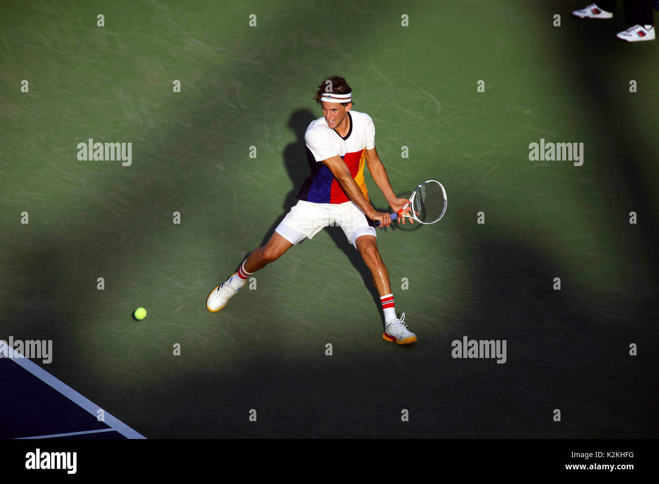 New York, United States. 31st Aug, 2017. US Open Tennis: New York, 31 August, 2017 - Austria's Dominic Thiem - Stock Image
